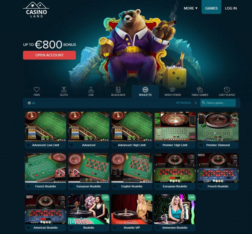 roulette casinoland